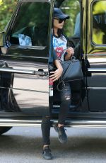 NAYA RIVERA Heading to Bel Air Hotel in Los Angeles 04/04/2017