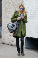 NICKY HILTON Hails a Cab Out in New York 04/04/2017