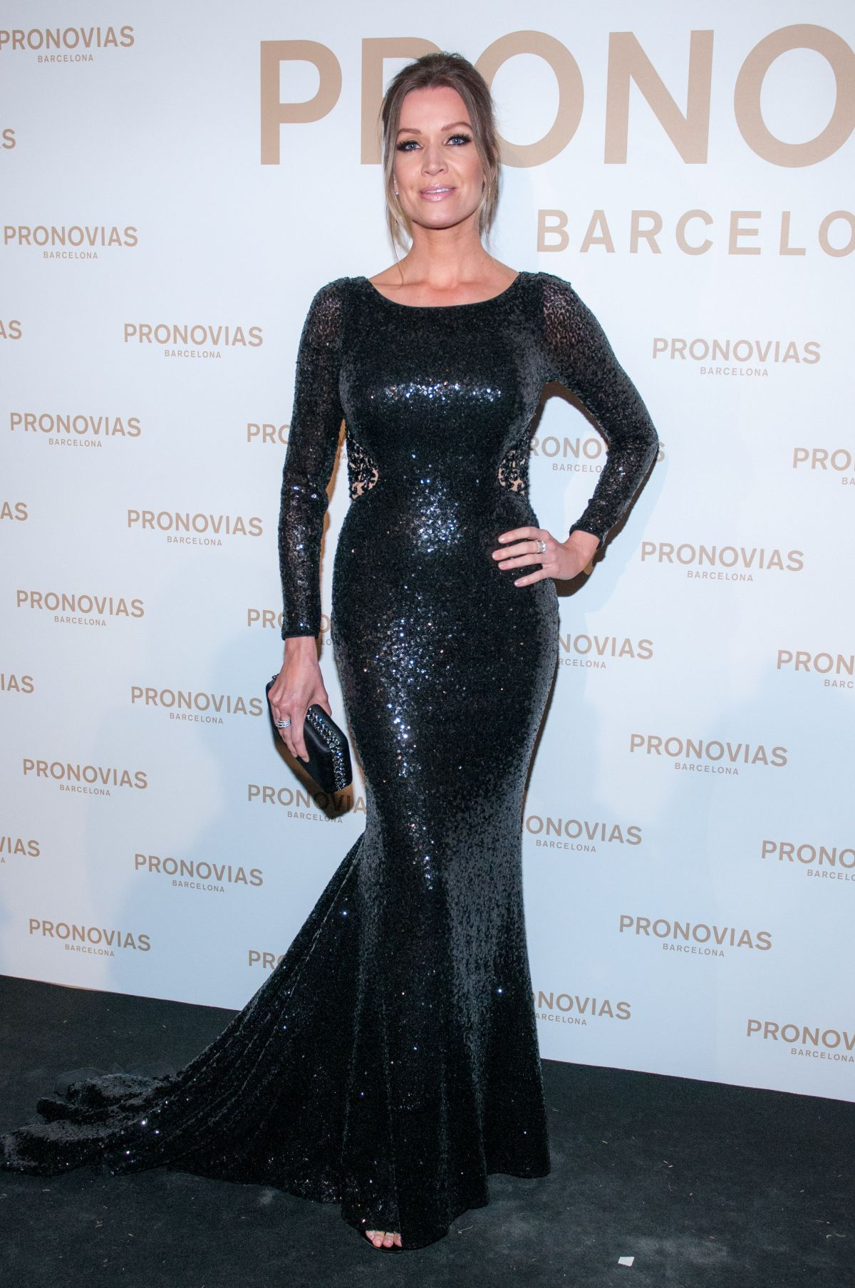 NICOLE KIMPEL at Barcelona Photocall at Pronovias Catwalk Show 04/28/2017
