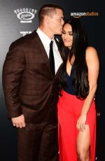 NIKKI BELLA and John Cena at The Wall Premiere in New York 04/27/2017