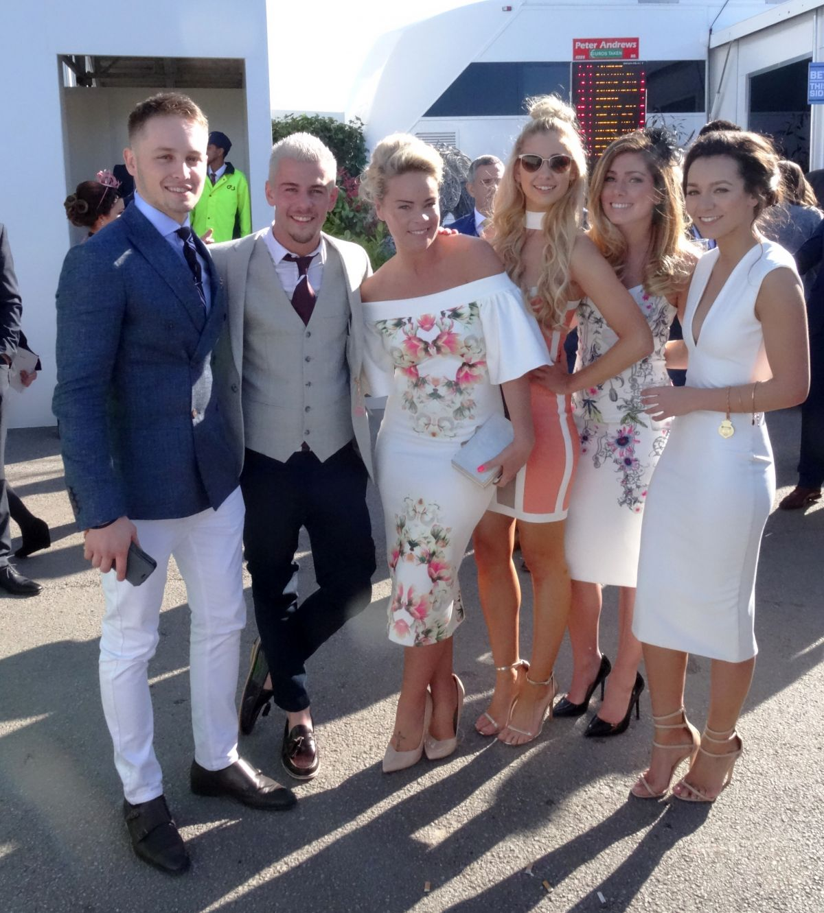 NIKKI SANDERSON, NADINE MULKERRIN, TAMARA WALL and AMANDA CLAPHAM at Grand National Ladies Day at Aintree in Merseyside 04/07/2017