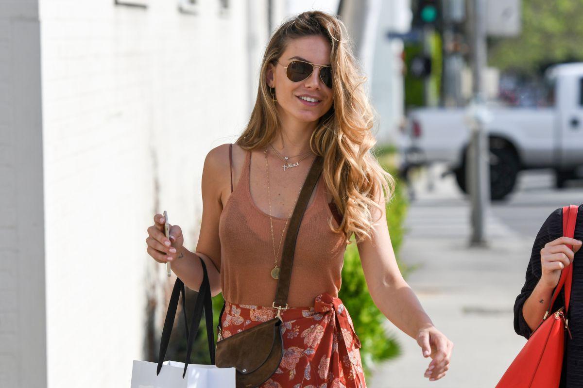 NINA SENICAR Leaves Revolve LA Social Club in Los Angeles 04/07/2017
