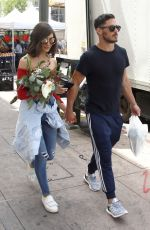OLIVIA CULPO and Danny Amendola Shopping at Farmer