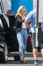 OLIVIA HOLT in Jeans on the Set of Neutrogena Commercial in Los Angeles 04/23/2017