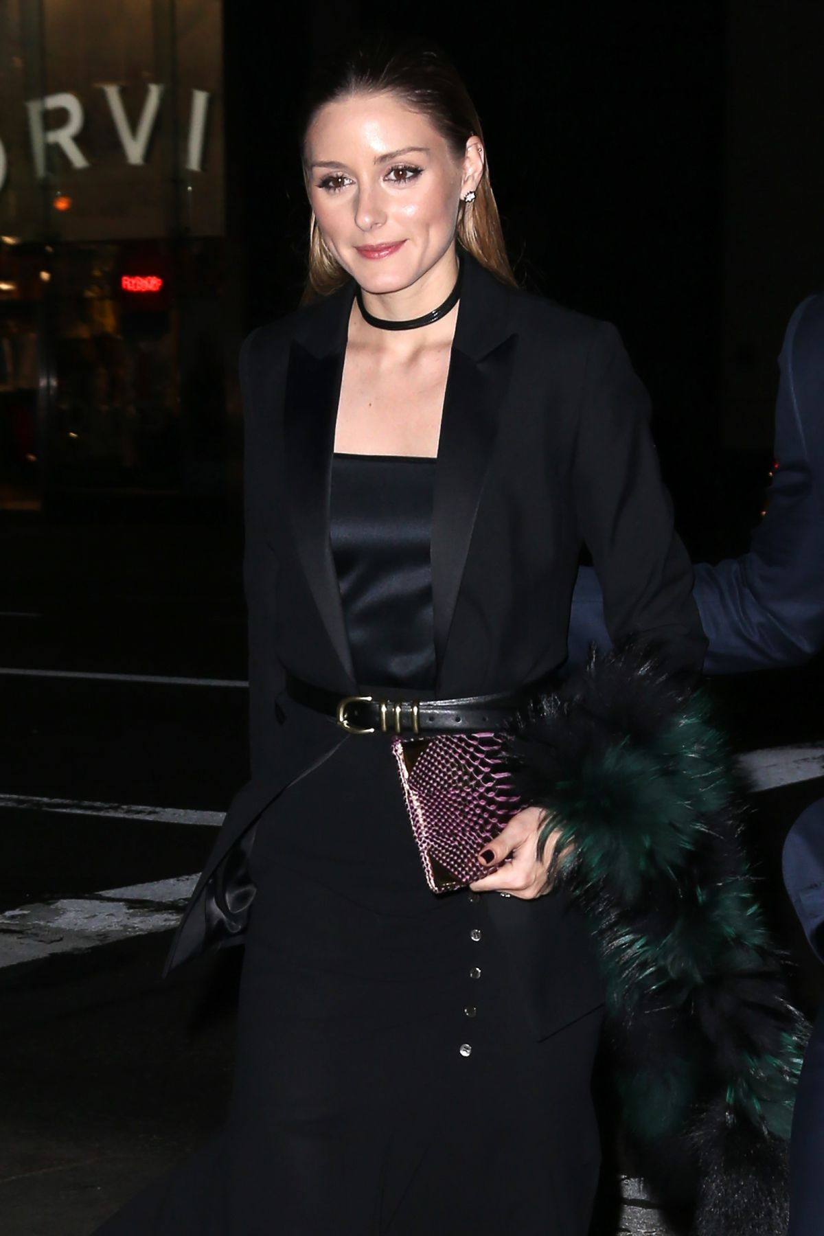 OLIVIA PALERMO Arrives at Montblanc for Unicef Collection Launch in New York 04/03/2017