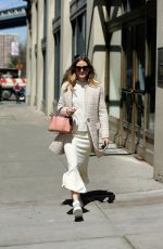OLIVIA PALERMO Out and About in New York 04/10/2017