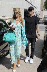 PARIS HILTON and Chris Zylka Out and About in Los Angeles 04/03/2017