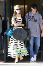 PARIS HILTON and Chris Zylka Shopping at Barney