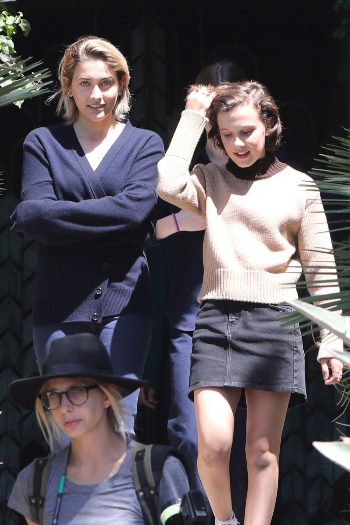 PARIS JACKSON and MILLIE BOBBY BROWN on the Set of Black Dhalia House in Los Angeles 04/20/2017   paris-jackson-and-millie-bobby-brown-on-the-set-of-black-dhalia-house-in-los-angeles-04-20-2017_10
