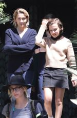 PARIS JACKSON and MILLIE BOBBY BROWN on the Set of Black Dhalia House in Los Angeles 04/20/2017