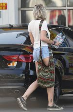 PARIS JACKSON in Denim Shorts Out in Studio City 04/22/2017