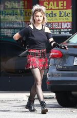 PARIS JACKSON in Plaid Skirt Out in Los Angeles 04/27/2017