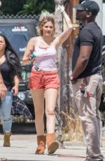 PARIS JACKSON on the Set of Untitled Nash Edgerton Project in Los Angeles 04/24/2017