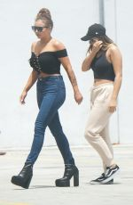 PERRIE EDWARDS and JESY NELSON outside of Sow Arena in Miami 04/14/2017