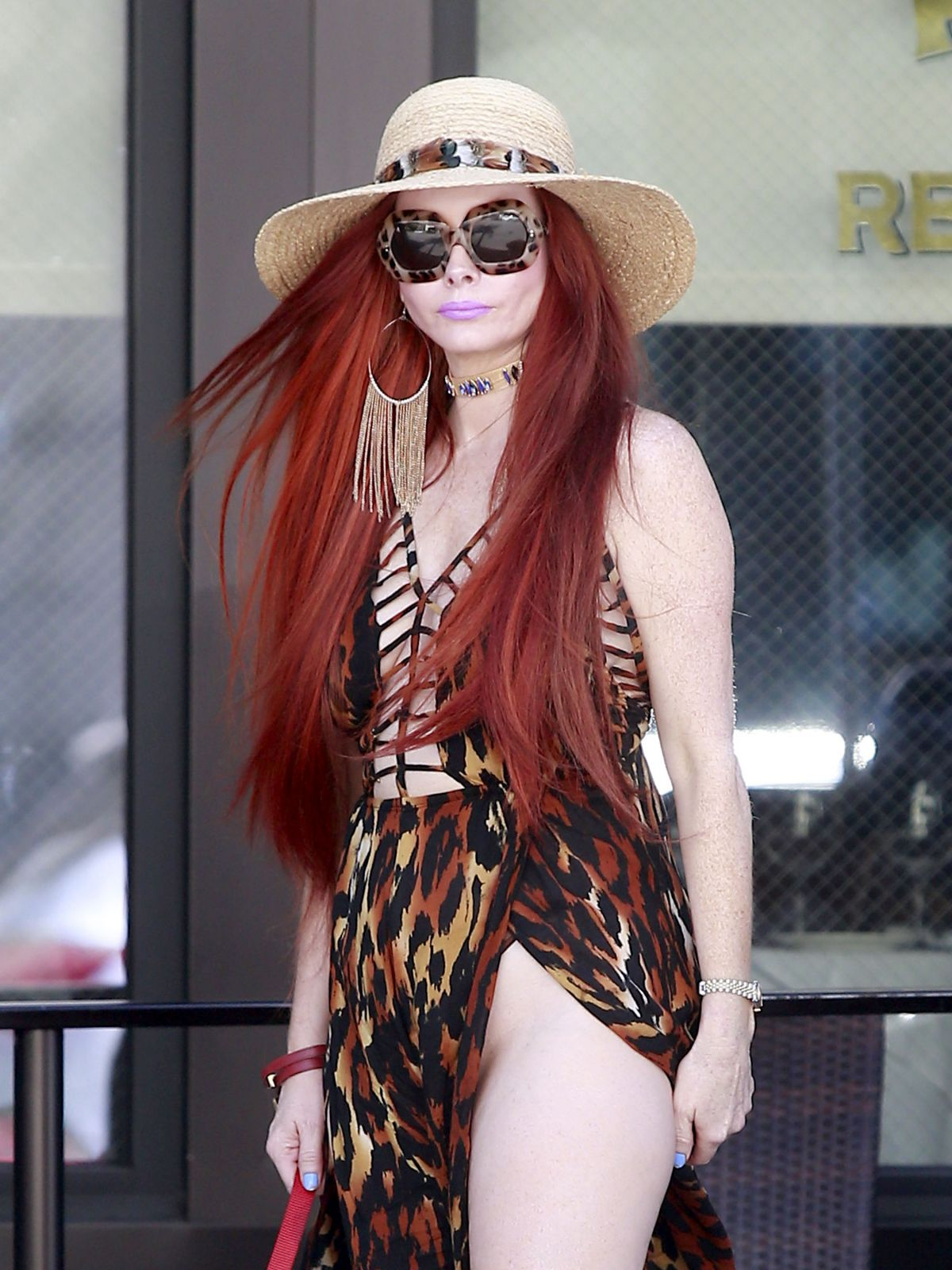 PHOEBE PRICE Out and About in Beverly Hills 04/20/2017