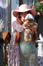 PHOEBE PRICE Out with Her Dog at The Grove in Hollywood 04/12/2017
