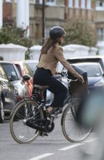 PIPPA MIDLETON Out Riding Her Bike in London 04/11/2017