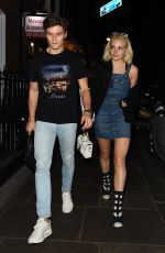 PIXIE LOTT and Oliver Cheshire Night Out in London 04/07/2017