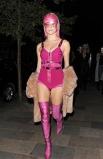 PIXIE LOTT Arrives at a Secret Gig at Sink the Pink Club in London 04/14/2017