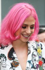 PIXIE LOTT Arrives at AOL Studios in London 04/13/2017