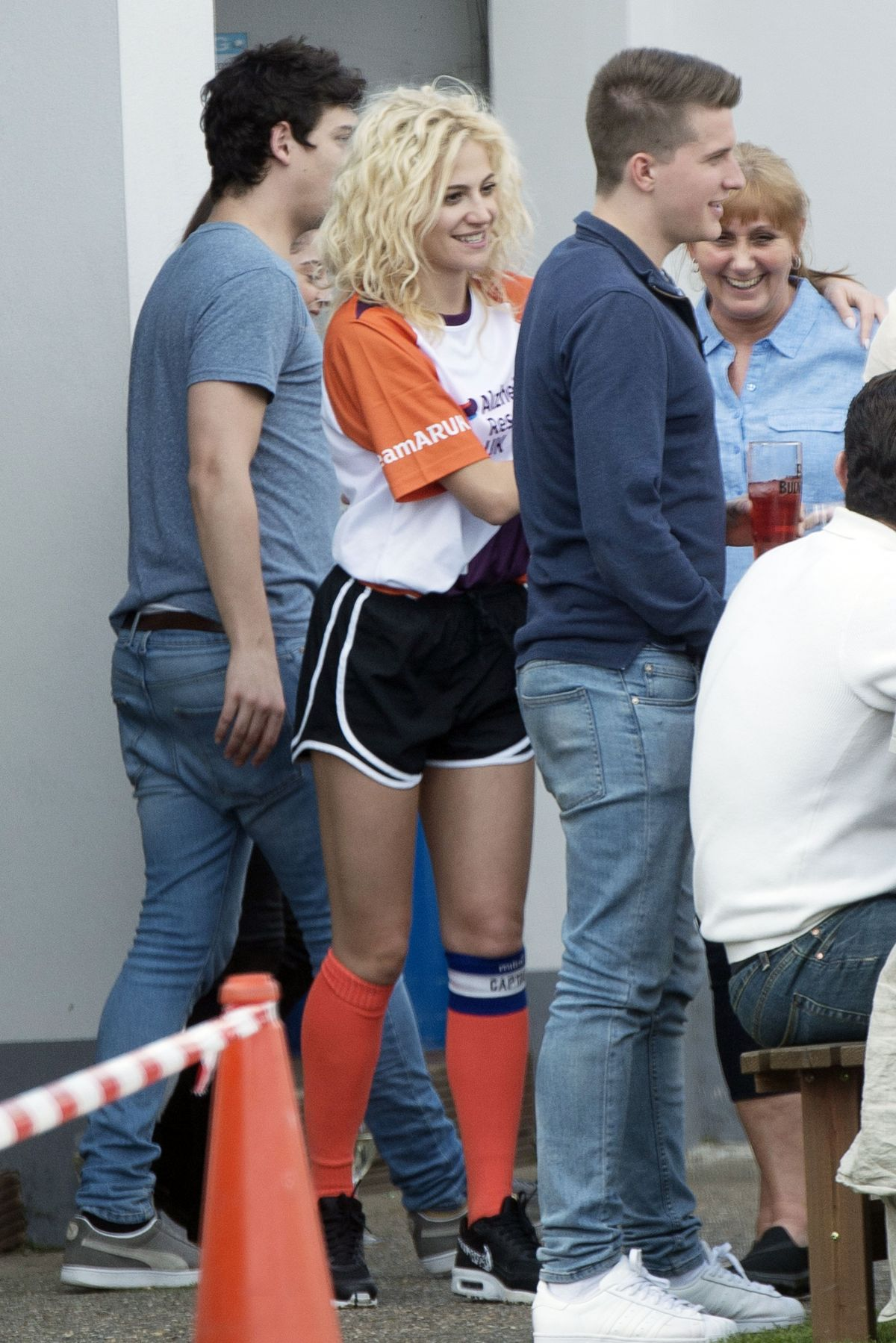 PIXIE LOTT at a Charity Football Match in Bexleyheath 04/02/2017