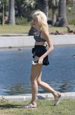 PIXIE LOTT in Bikini Top on the Set of a Music Video in Los Angeles 03/31/2017