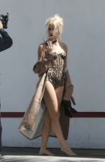 PIXIE LOTT in Swimsuit on the Set of Her Music Video in Los Angeles 03/28/2017