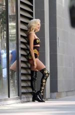 PIXIE LOTT on the Set of a Music Video in Los Angeles 04/05/2017