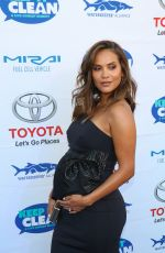 Pregnant LESLEY-ANN BRANDT at Keep It Clean Comedy Benefit in Los Angeles 04/21/2017
