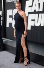 Pregnant ROSIE HUNTINGTON-WHITELEY at The Fate of the Furious Premiere in New York 04/08/2017