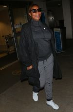 QUEEN LATIFAH at LAX Airport in Los Angeles 04/10/2017