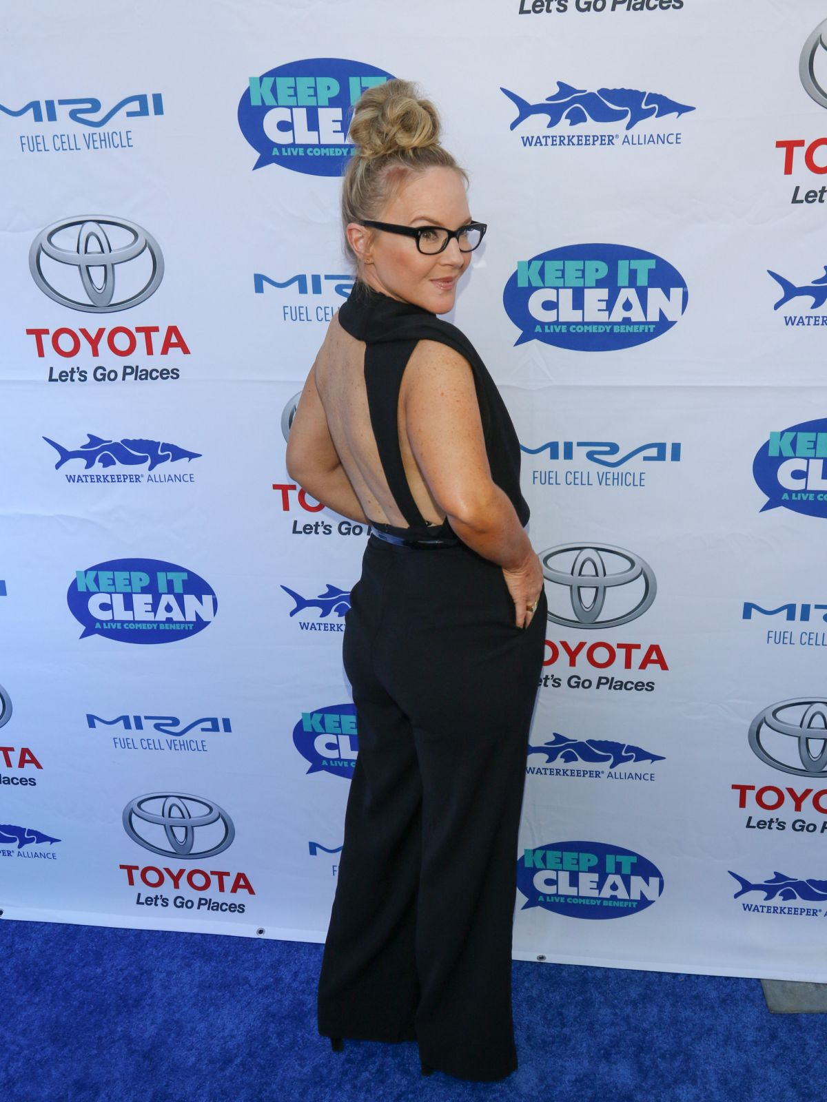 RACHAEL HARRIS at Keep It Clean Comedy Benefit in Los Angeles 04/21/2017
