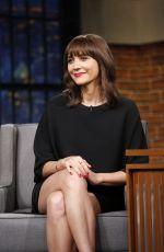 RASHIDA JONES at Late Night with Seth Meyers 04/05/2017