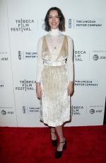REBECCA HALL at The Dinner Premiere at Tribeca Film Festival in New York 04/24/2017