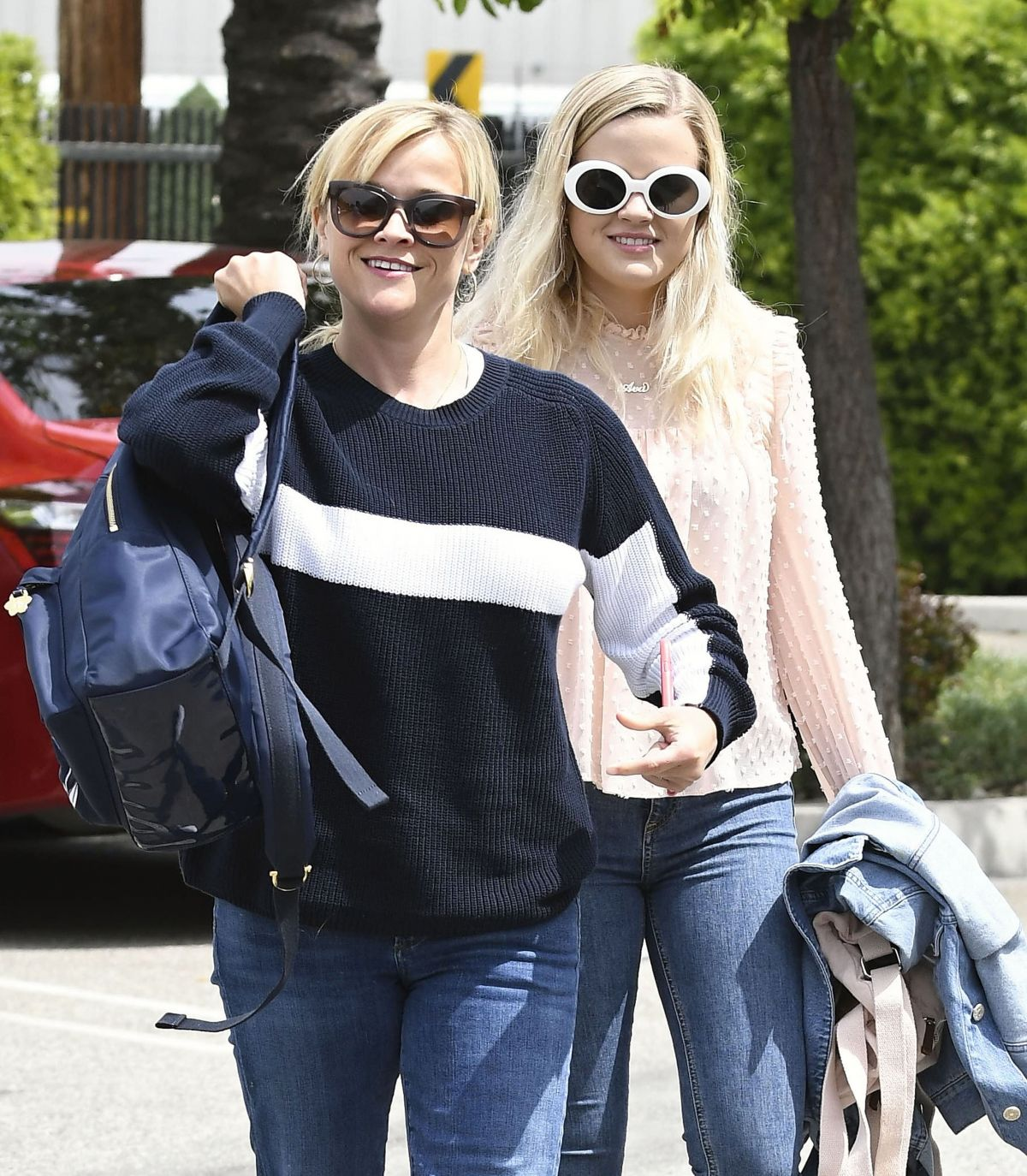 REESE WITHERSPOON and AVA PHILLIPPE After A Helicopter Trip in Santa Monica 04/11/2017