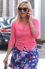 REESE WITHERSPOON in Skirt Out in Los Angeles 04/12/2017