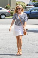 REESE WITHERSPOON in White Skirt Out in Los Angeles 04/13/2017