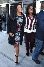 RENEE ELISE GOLDSBERRY Arrives at This Morning Show in New York 04/18/2017