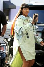 RIHANNA Arrives at Her Fenty+Puma Pop-up Store in Los Angeles 04/18/2017