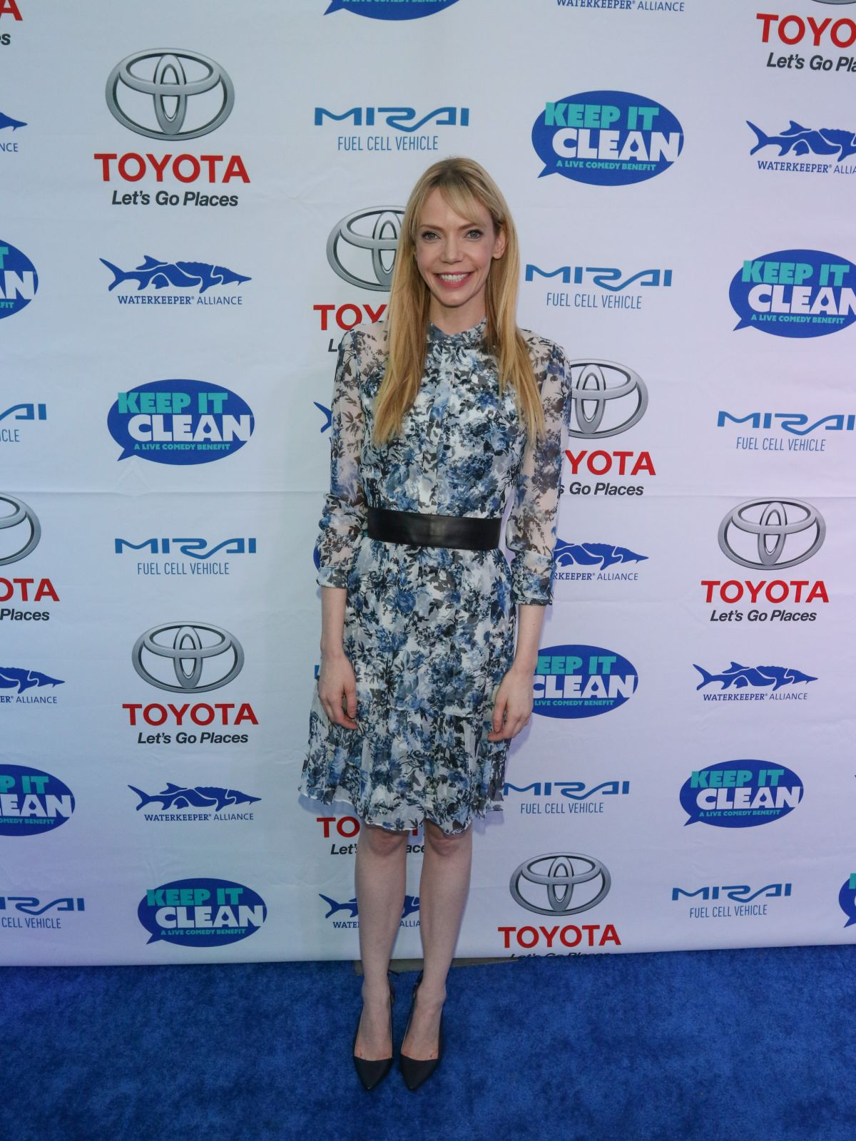 RIKI LINDHOME at Keep It Clean Comedy Benefit in Los Angeles 04/21/2017