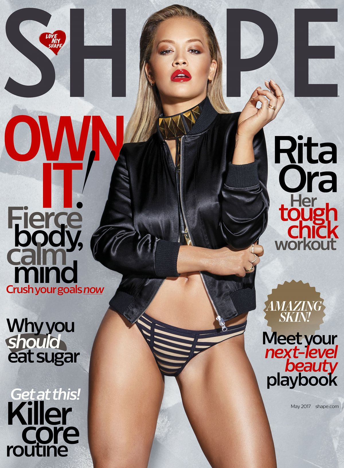RITA ORA in Shape Magazine, May 2017 Issue