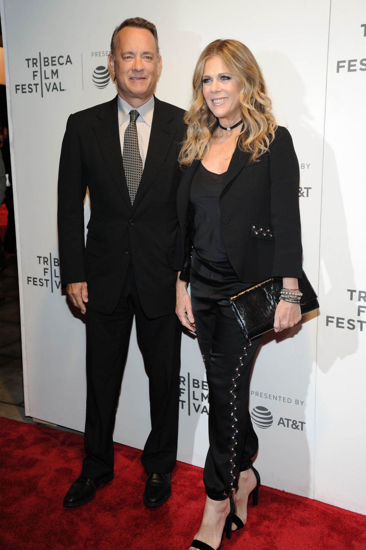 RITA WILSON and Tom Hanks at The Circle Premiere at 2017 ...