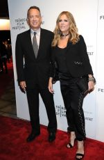 RITA WILSON and Tom Hanks at The Circle Premiere at 2017 Tribeca Film Festival in New York 04/26/2017
