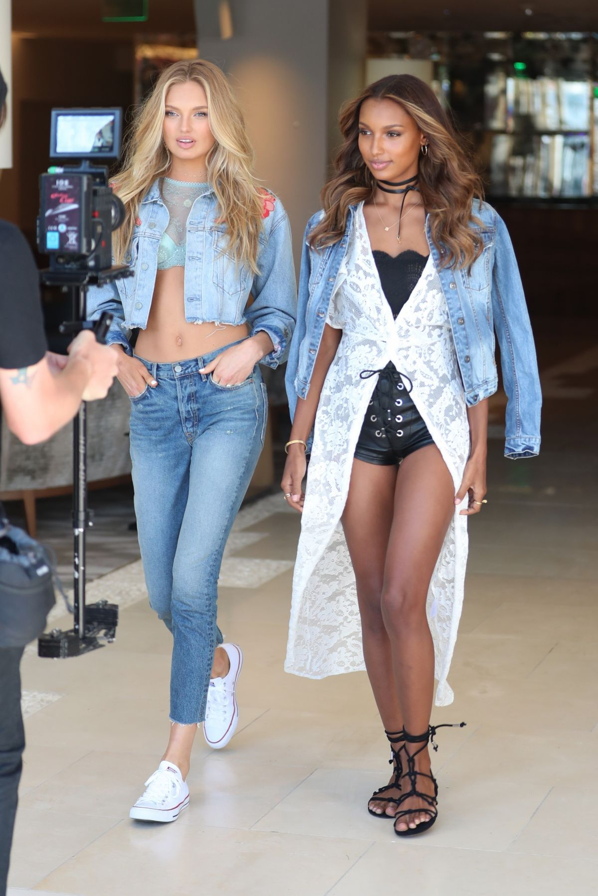 ROMEE STRIJD and JASMINE TOOKES at Press Shoot for Victoria