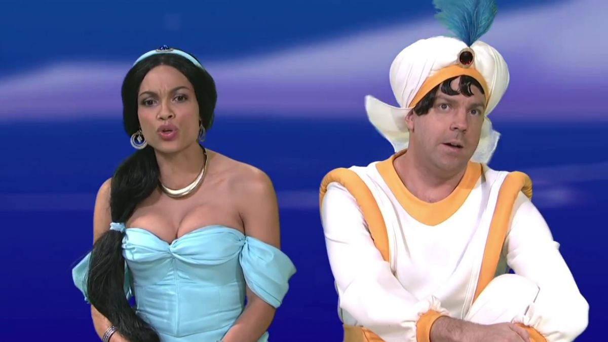 ROSARIO DAWSON as Princess Jasmine on SNL 04/08/2017
