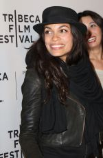 ROSARIO DAWSON at Awake: A Dream From Standing Rock Premiere at 2017 Tribeca Film Festival 04/22/2017
