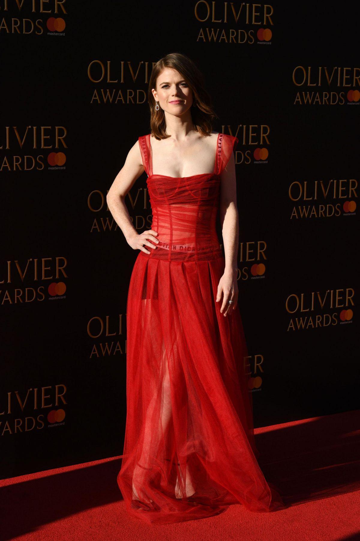 ROSE LESLIE at Olivier Awards in London 04/09/2017 ...