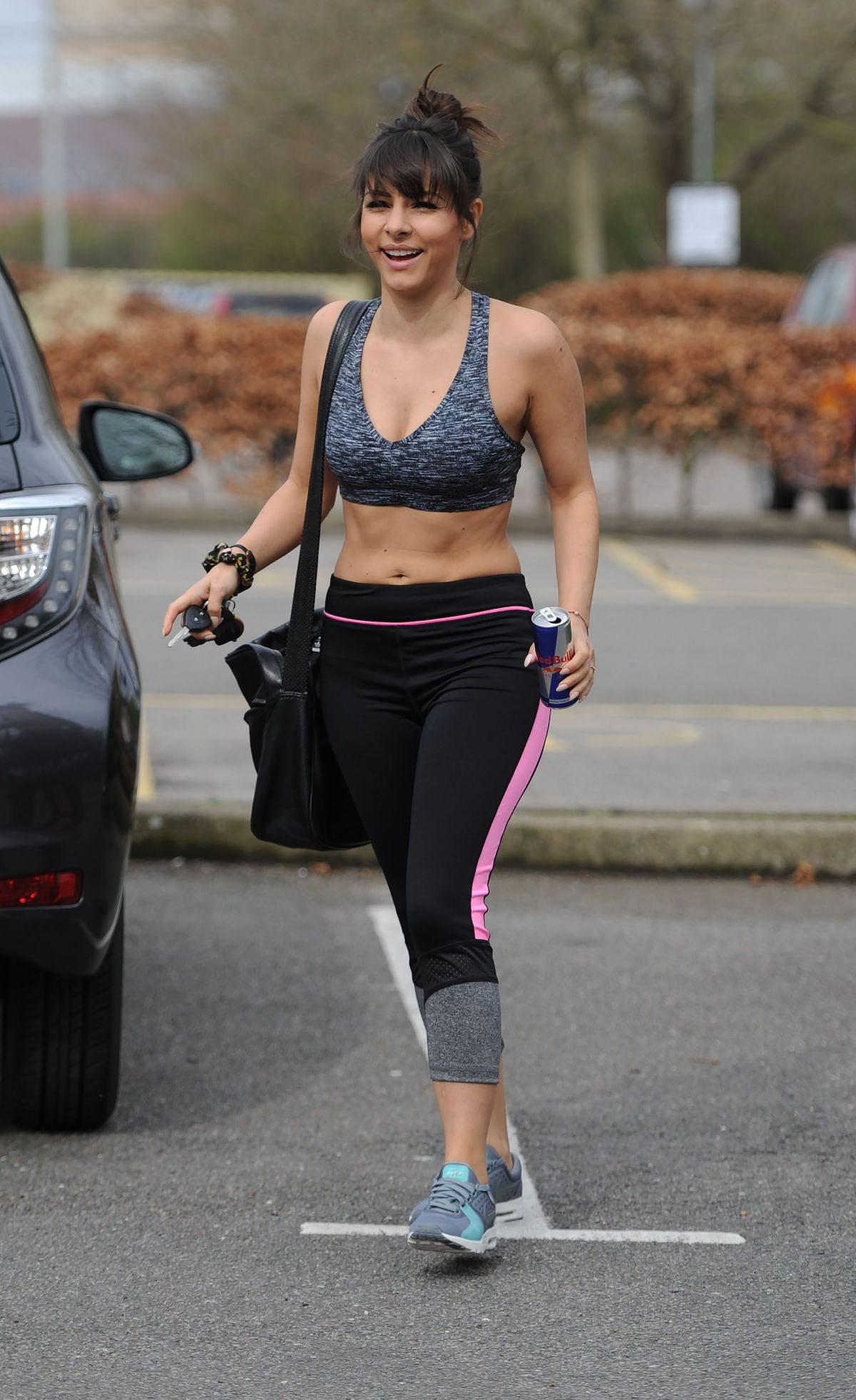 ROXANNE PALLETT in Sports Bra and Leggings Out in London 04/01/2017
