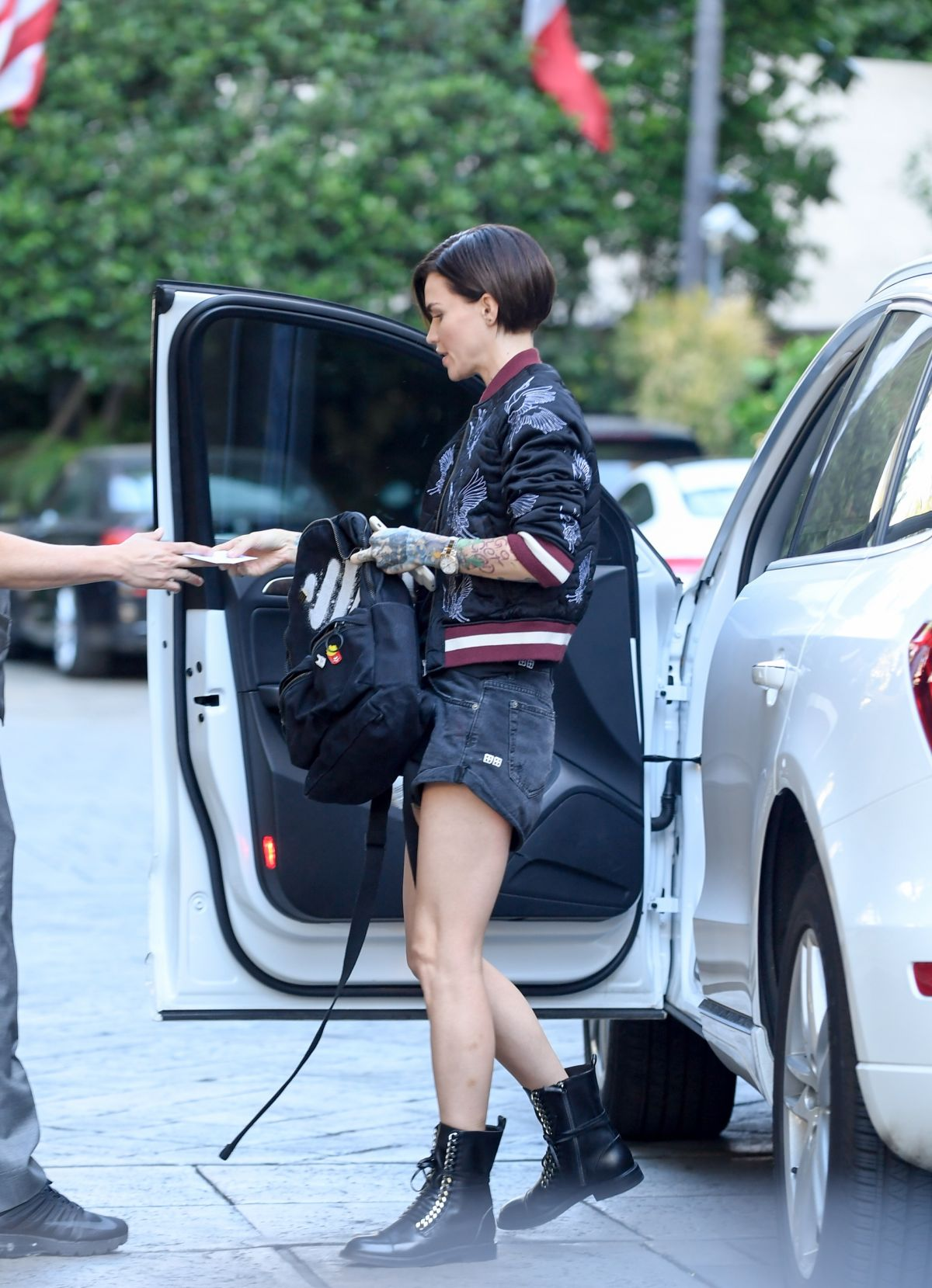 RUBY ROSE Arrives at Four Seasons Hotel in Beverly Hills 04/28/2017