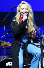 SABRINA CARPENTER Performs at Camp Izze at The Duggal Greenhouse Brooklyn Navy Yard in New York 04/08/2017